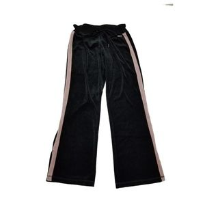 Calvin Klein Velour Track Jogger Pants Black Small
